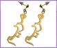 Gold Plated Name Earring
